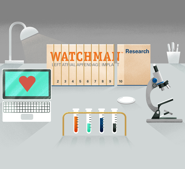 WATCHMAN research studies graphic