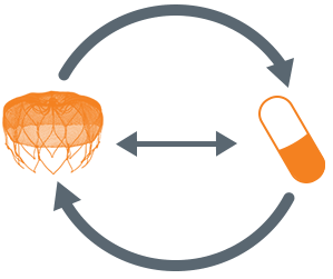 WATCHMAN device and pill illustration