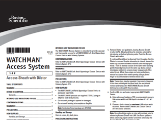 WATCHMAN Access System Directions for Use Thumbnail