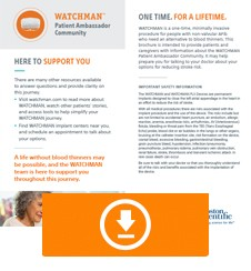 WATCHMAN Patient Ambassador Community Brochure