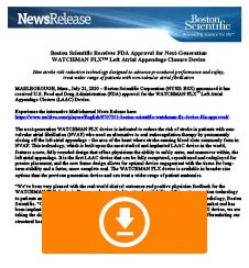WATCHMAN FLX FDA Approval Press Release Thumbnail